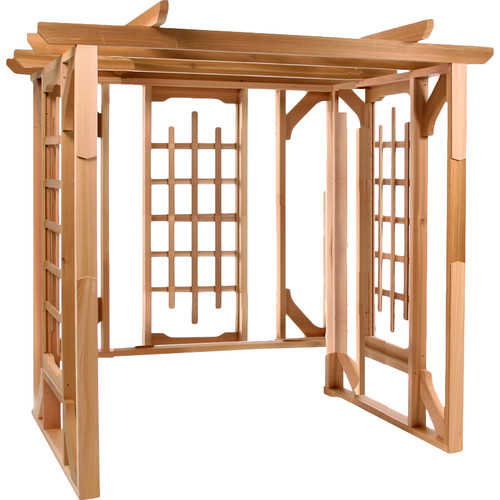 All Things Cedar 7 Ft. W x 6 Ft. D Solid Wood Pergola by All Things Cedar