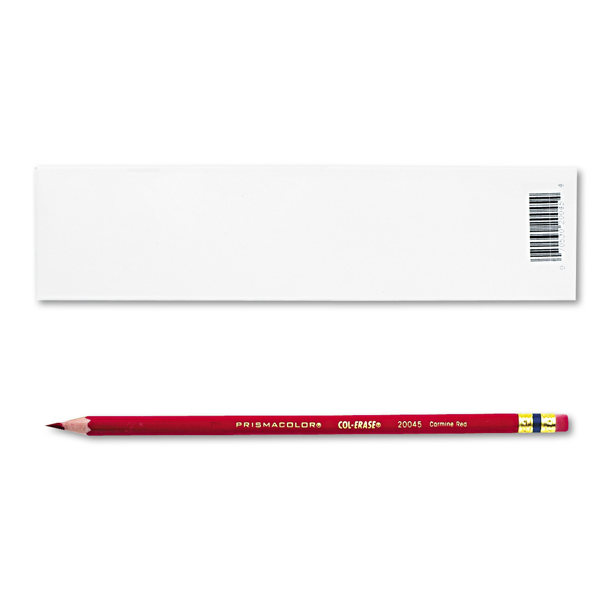Prismacolor Col-Erase Pencil w/Eraser, Carmine Red Lead/Barrel, Dozen