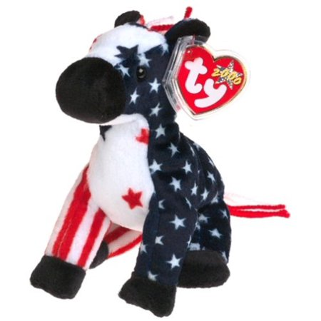 Ty - Lefty 2000 - Retired, Lefty the Donkey is a smashing mascot for patriotic Beanie lovers By Beanie Babies - Patriotic Stuff