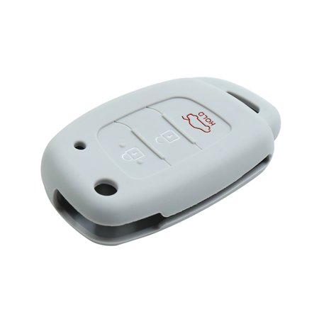 Gray 3 Button Car Keyless Entry Remote Key Case Holder Shell for Hyundai - image 2 of 3
