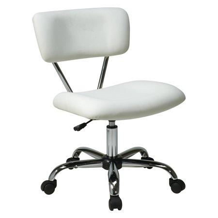 Ave Six Vista Task Office Chair  White Vinyl