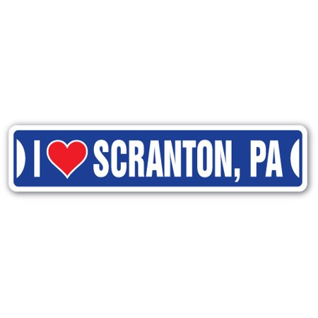 I LOVE SCRANTON, PENNSYLVANIA Street Sign pa city state us wall road décor gift](Party City Dickson City Pa)