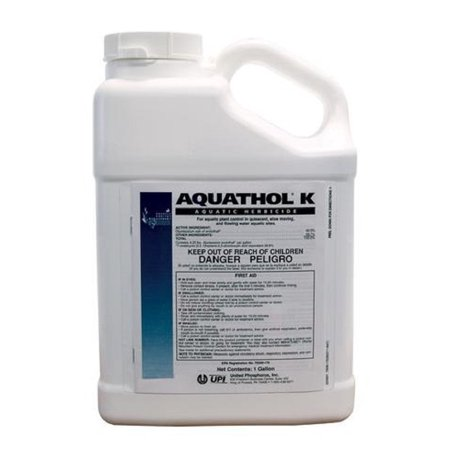 Aquathol-K Aquatic Herbicide 2.5 Gallons - For Controlling & Treating Milfoil, Hydrilla, Curly Leaf Pond Weed and