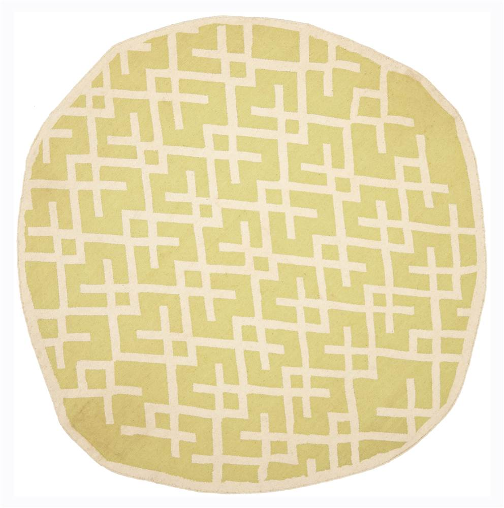 Area Round Rug in Light Green and Ivory (6 ft. Dia.)