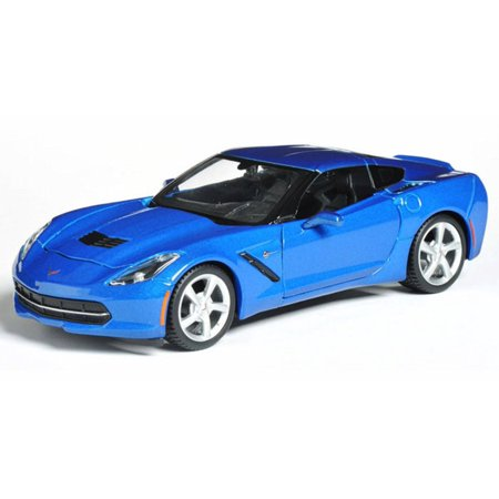 2014 Chevrolet Corvette Stingray Coupe, Blue - Maisto 31505 - 1/24 scale diecast model - 1973 Corvette Coupe