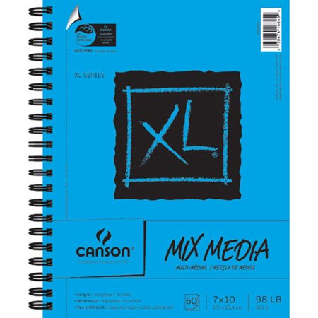 Canson XL Mixed Media Sketchpad: 7 x 10 - Halloween Mixed Media Art