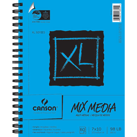 Canson XL Mixed Media Sketchpad: 7 x 10 inches