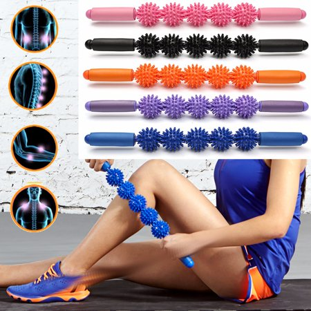 Spiky Ball Handheld Massagers Wand Rolling Trigger Point Muscle Therapy Stick Roller For Athlete Runner Yoga Sport Fitness