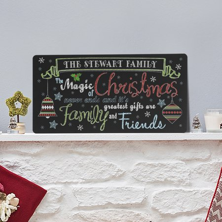 Personalized The Magic of Christmas Chalkboard Sign - Personalized Chalkboard Sign