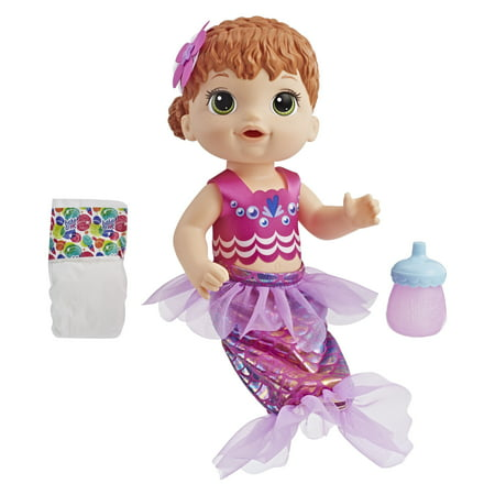 Baby Alive Shimmer Splash Mermaid, Red Hair, Ages 3 and up - Alive 4 Fashion Halloween