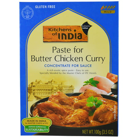 Kitchens of India, Paste for Butter Chicken Curry, Concentrate for Sauce, Mild, 3.5 oz(pack of 1)