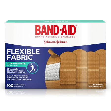Band Aid  Brand Flexible Fabric Adhesive Bandages For Minor Wound Care  100 Count