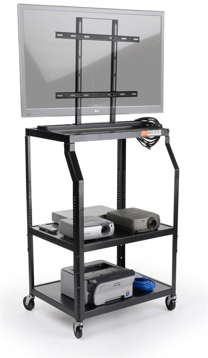 """AV Cart with Mounting Bracket for Flat-screen Monitors Between 26"""" and 55\ by Displays2go"""