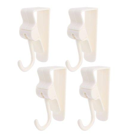 - Kitchen Bedroom Wardrobe Plastic Door Hook Hanger Pothook Organizer White 4pcs