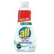 all Free Clear, 53 Loads, Liquid Laundry Detergent Small & Mighty, 40 fl oz