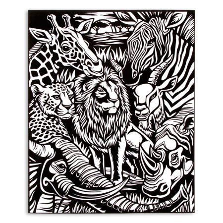 Velvet Coloring Poster: Jungle Pets, 16 x 20 inches - Walmart.com