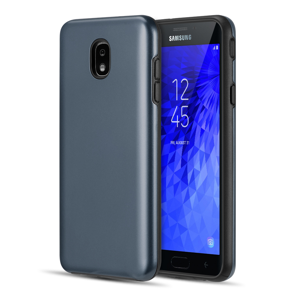 Dual Armor Samsung Galaxy J7 Star, Slim Fit Hybrid Protective Cover Case for Samsung Galaxy J7 Star 2018 J737T (T-Mobile) - Dark Navy Blue