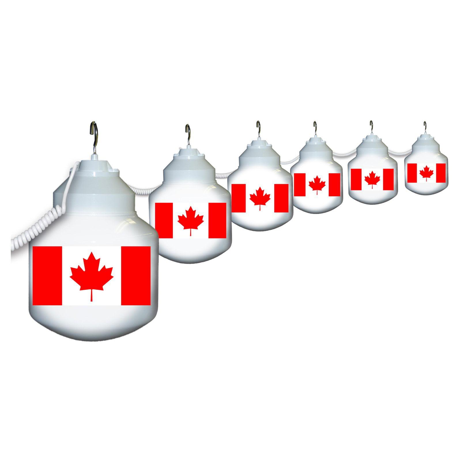 Polymer Products LLC Canadian Flag Six Globe String Light Set by Polymer Engineered Products LLC
