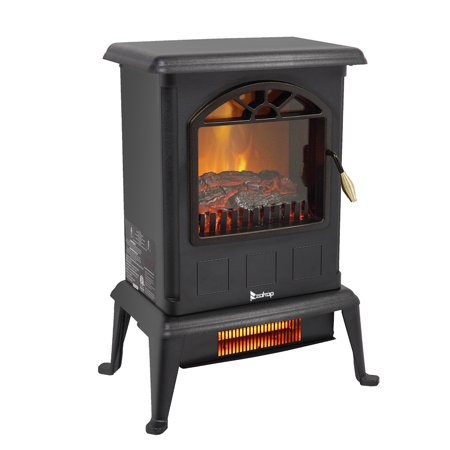 Zimtown 1000W/1500W Electric Fireplace Wood Stove Heater Portable Freestanding,ETL