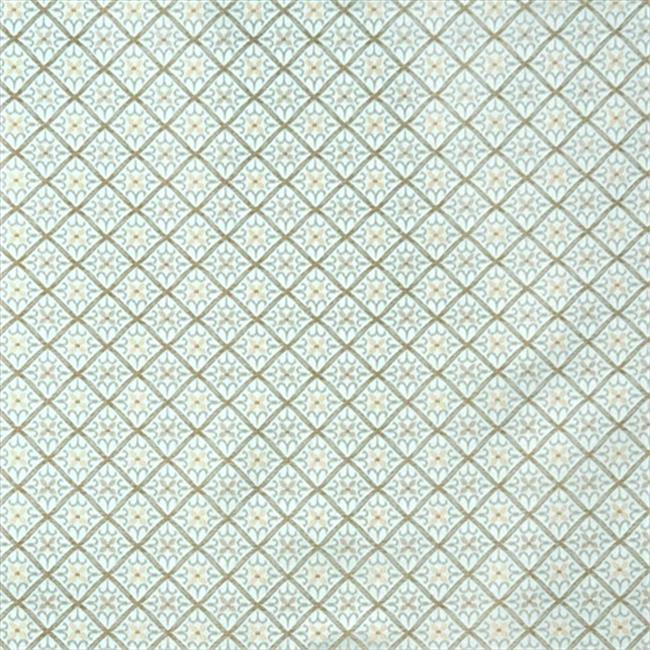 Designer Fabrics E663 54 inch Wide Diamond Light Blue And Gold Damask Upholstery And Window Treatment Fabric