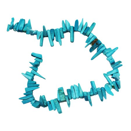 Triple Strand Turquoise Bead - Blue Turquoise Bead Chips Strand (6 x 20mm)