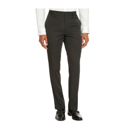 Kenneth Cole Mens Flat Front Dress Slacks blackcombo 38x32 - image 1 de 1