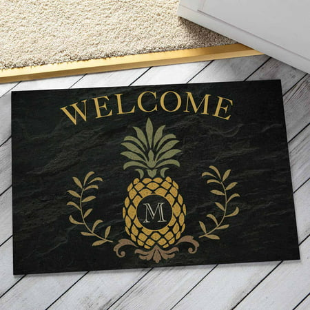 Personalized Pineapple Initial Doormat ()