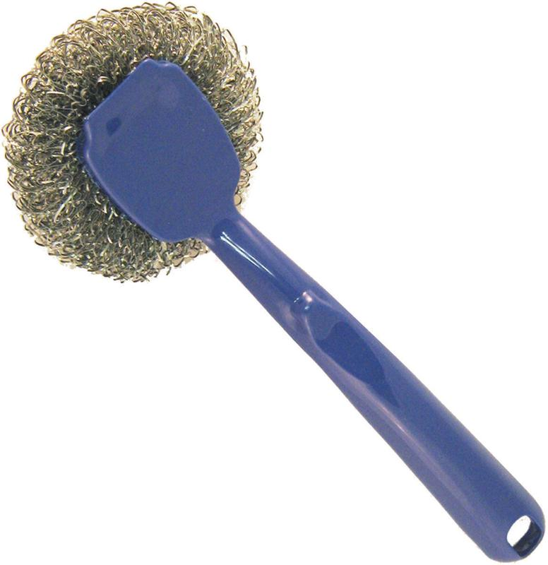 Birdwell Cleaning 293-48 Scrubber With Scraper, Polypropylene Handle