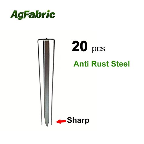 Agfabric Landscape Unique Design Garden Staples Stakes Pins for Weed Barrier Fabric-20 Pack