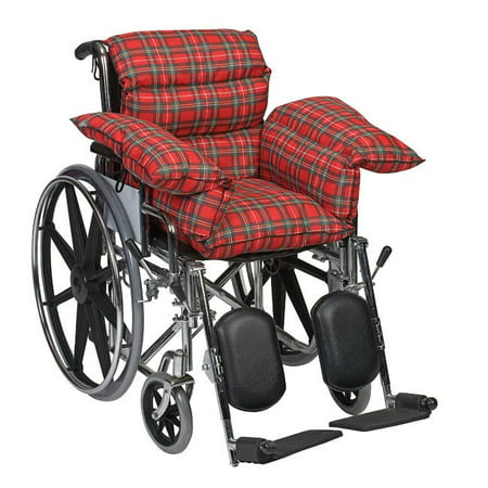 DMI Wheelchair Cushion for Pressure Sore Relief, Seat Cushion for Wheelchair, Comfort Pillow Cushion for Seniors and Elderly, Plaid