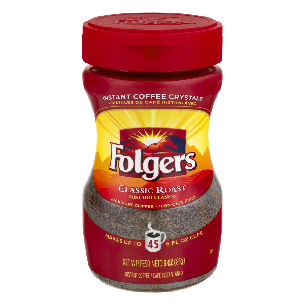 Folgers Instant Coffee Classic Roast, 3.0 OZ