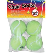 The Pencil Grip Chair Socks, Yellow, 4 / Pack (Quantity)