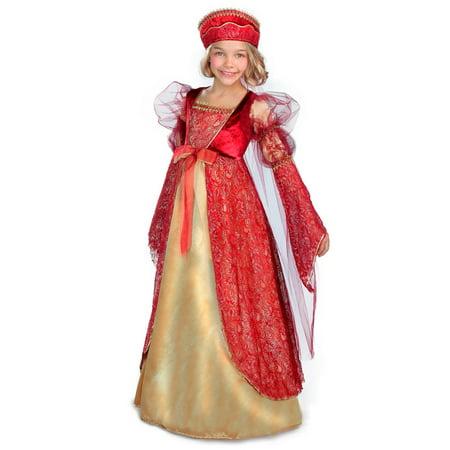 Halloween Girl's Princess Anne Child Costume - Anne Boleyn Costume
