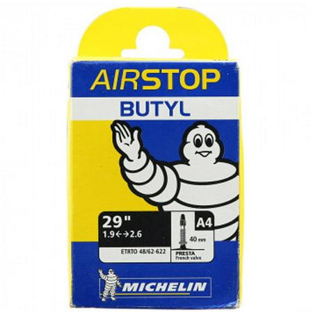 Michelin A4 Airstop Inner Tube 29x1.9-2.1 Presta 40mm Valve Mountain Bike (29er Tube)