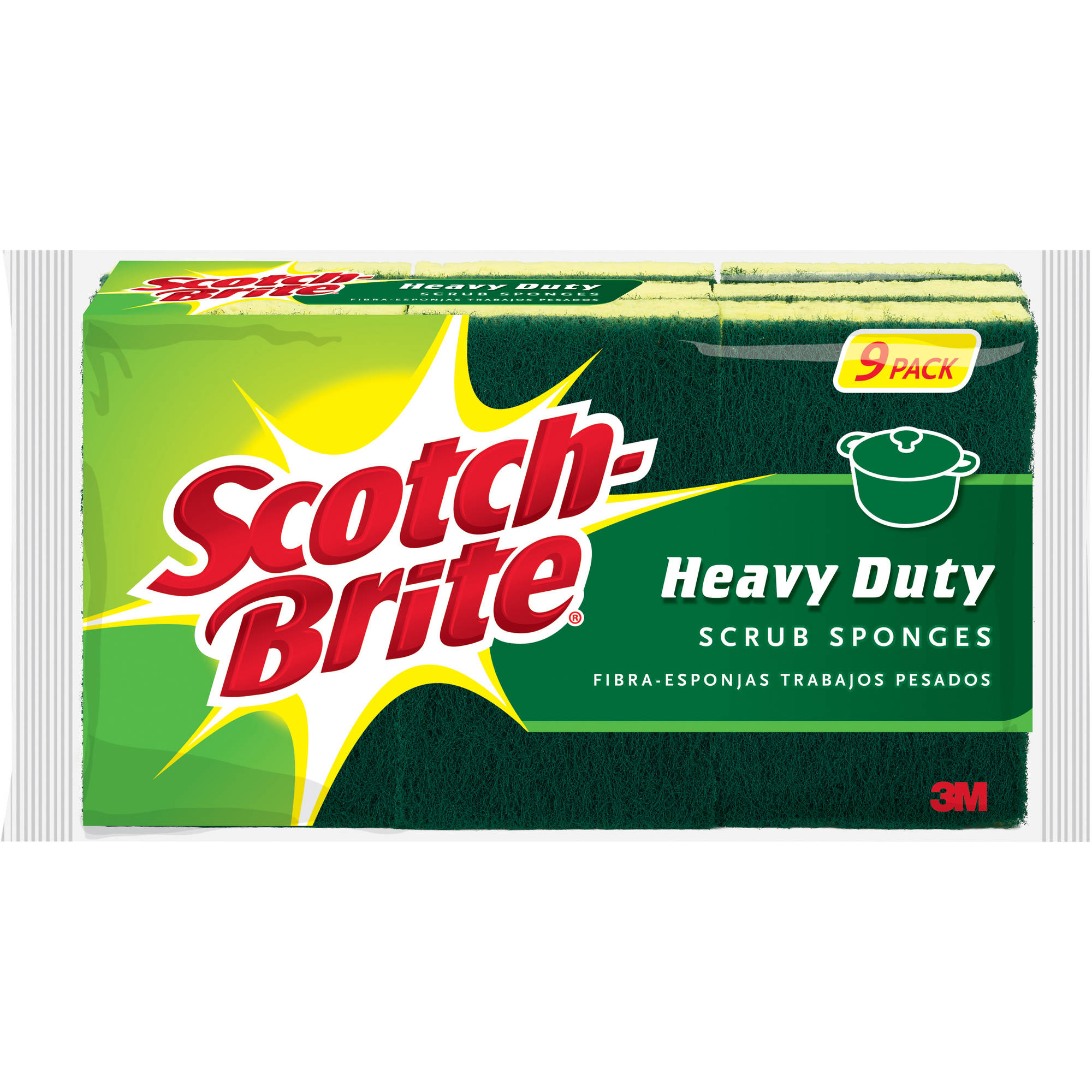 Scotch-Brite Heavy Duty Scrub Sponges, 9 pack