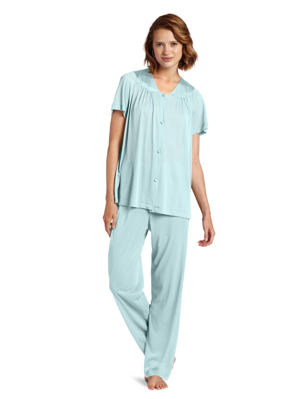 Vanity Fair Vanity Fair Women S Coloratura Sleepwear Short Sleeve Pajama Set 90107 Walmart Com Walmart Com