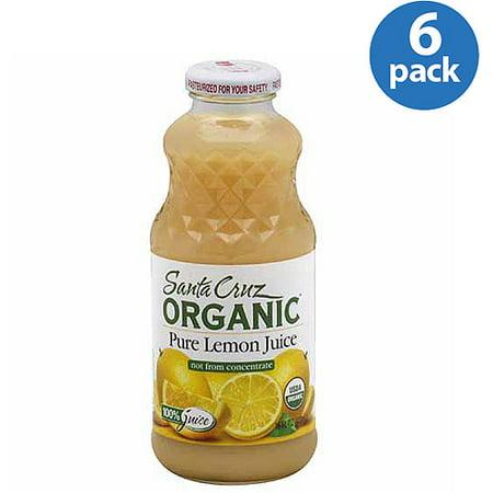 santa cruz 100 organic lemon juice 16