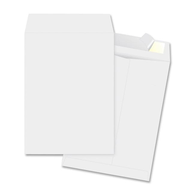 Business Source Open-End Envelopes, Plain, 12''x15-1/2'', 100 per Box, White