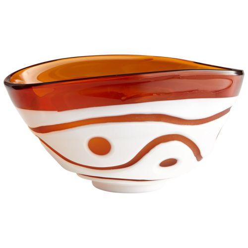 Cyan Design Large Dotty Bowl Dotty 11.75 Inch Wide Glass Decorative Bowl by Cyan Design