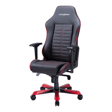 - DXRacer Iron Series Black and Red - Real Leather Edition - OH/IS188/NR - Ergonomic, High Back, Reclining, Gaming \ E-Sports \ Office Chair