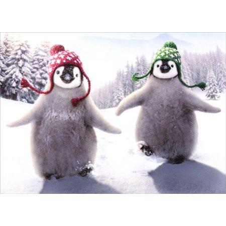 Avanti Press Penguins In Christmas Hats Christmas Card