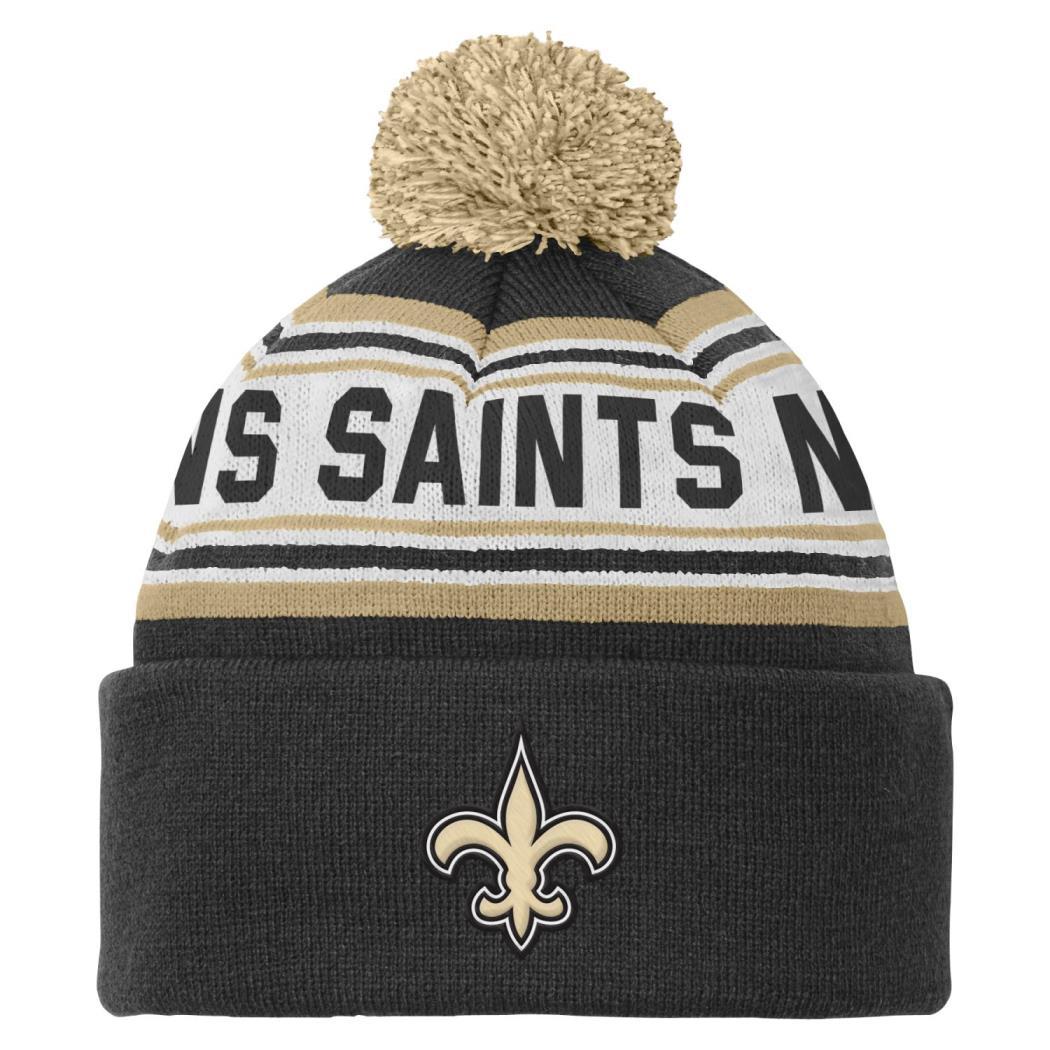 New Orleans Saints Youth NFL Cuffed Knit Hat w/ Pom
