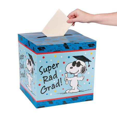 Fun Express - Peanuts Graduation Card Box for Graduation - Party Supplies - Containers & Boxes - Paper Boxes - Graduation - 1 Piece](Graduation Party Card Box)