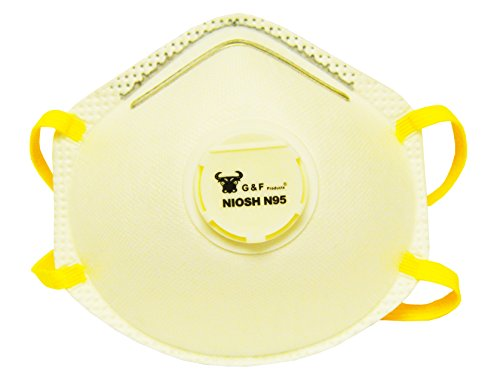 G & F 9116 N95 Particulate Respirator Dust Mask with Valve, Box of 10 Pieces by G & F