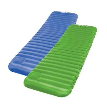 Air Comfort Roll & Go Inflatable Sleeping Pad 2pc Set - Blue, Green