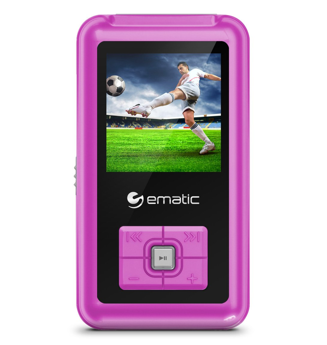 "Ematic Em208vid 8 Gb Pink Flash Portable Media Player - Photo Viewer, Video Player, Audio Player, Fm Tuner, Voice Recorder, E-book, Fm Recorder - 1.5"" Color Lcd - Usb - Headphone (em208vidpn)"