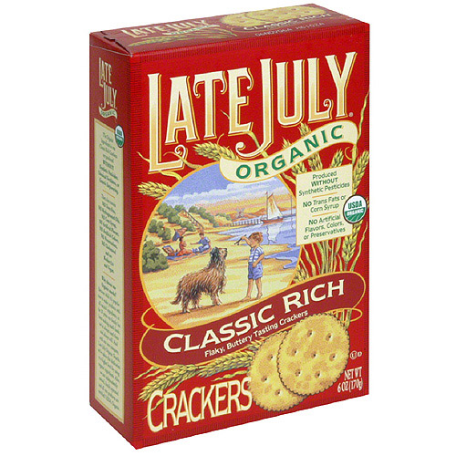 Late July Organic Classic Rich Crackers, 6 oz (Pack of 12)