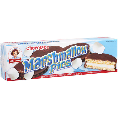 Little Debbie Snacks Chocolate Flavored Marshmallow Pies, 8ct