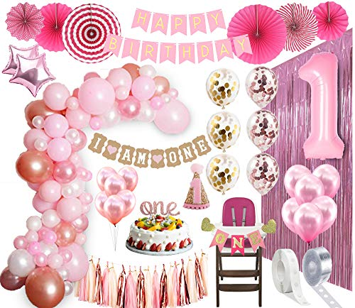 Rose Gold Birthday Balloons Gold Birthday Balloons 33/'/' Birthday Gold and Pink Confetti Cake Gold Bday Pink and Gold Birthday Balloon