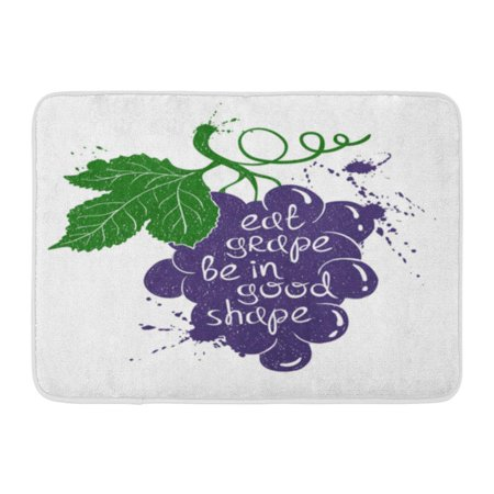 GODPOK Juice Colorful Grape Branch Silhouette on White with Creative Poetic Quote Inside Eat Be in Good Shape Rug Doormat Bath Mat 23.6x15.7 (Grape Branch)